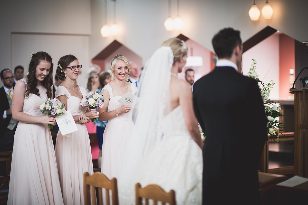 Farnham Castle Wedding Photography | Amelia & Ollie 23 Walking down the aisle 1