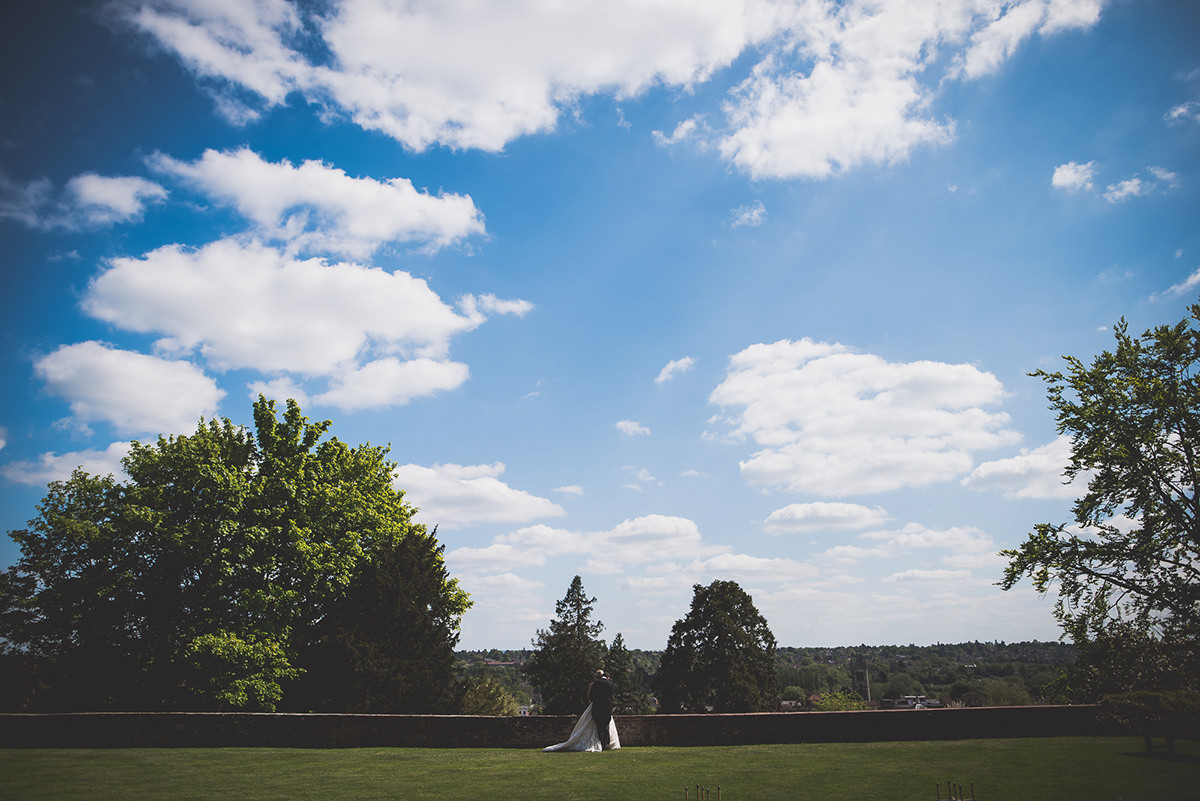 Farnham Castle Wedding Photography | Amelia & Ollie 31 The first kiss 1