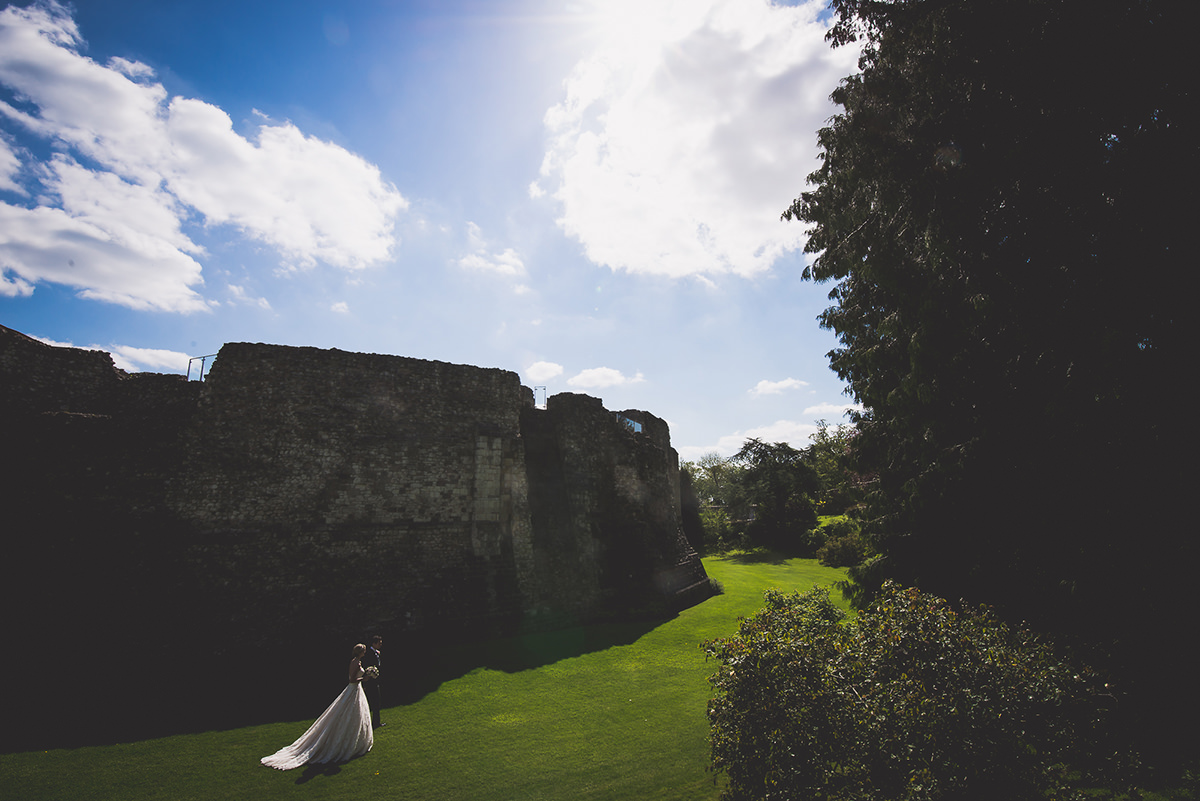 Farnham Castle Wedding Photography | Amelia & Ollie 35 Wedding cake 1