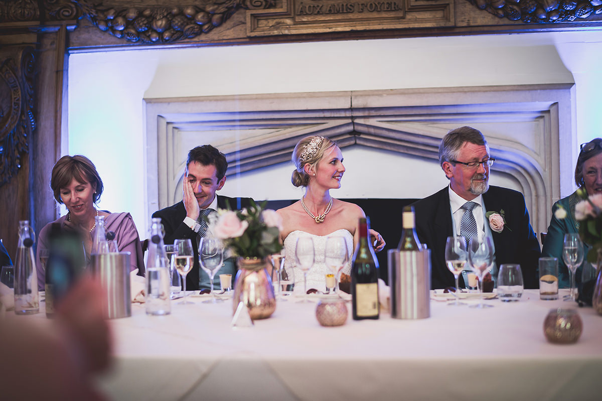 Farnham Castle Wedding Photography | Amelia & Ollie 56 Grooms toast 1