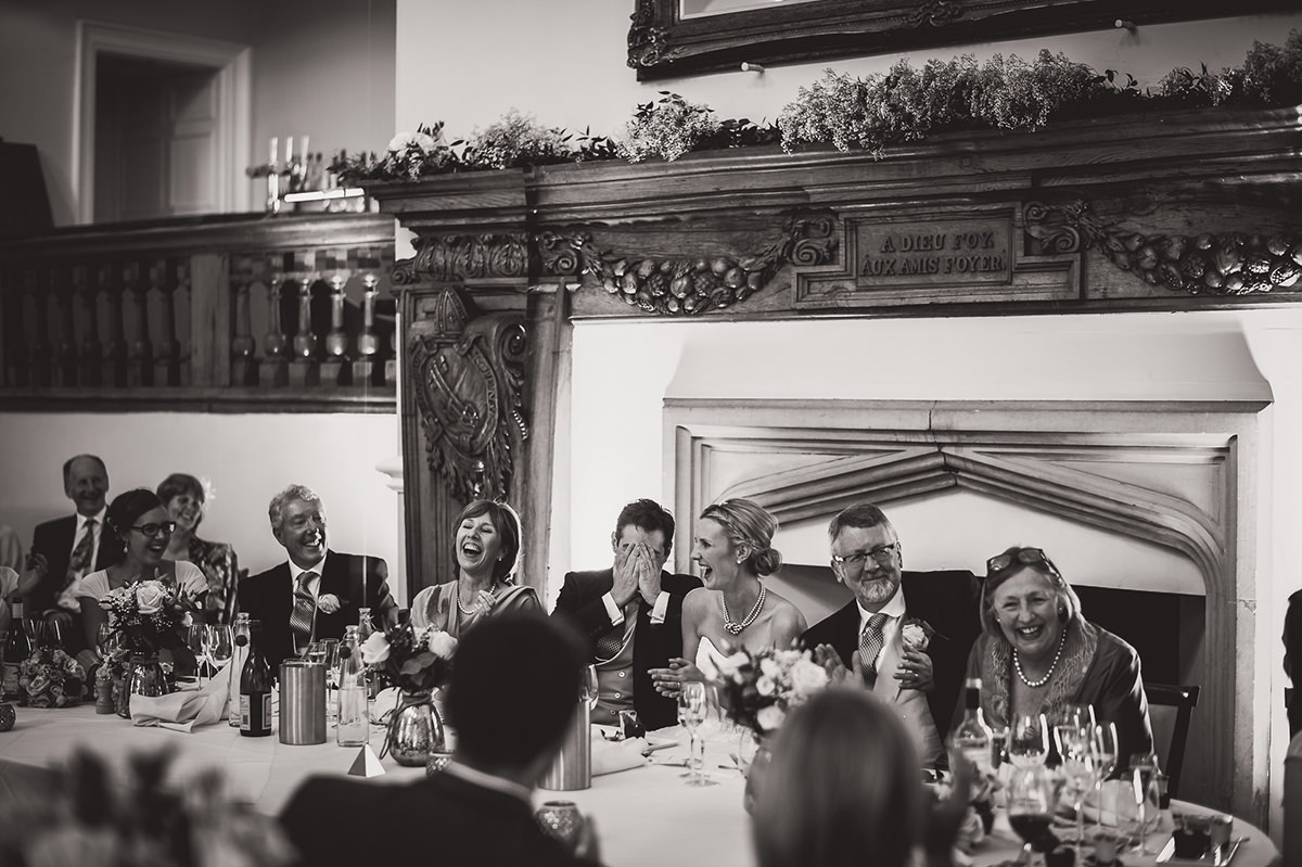 Farnham Castle Wedding Photography | Amelia & Ollie 57 laughing mother of the bride 1
