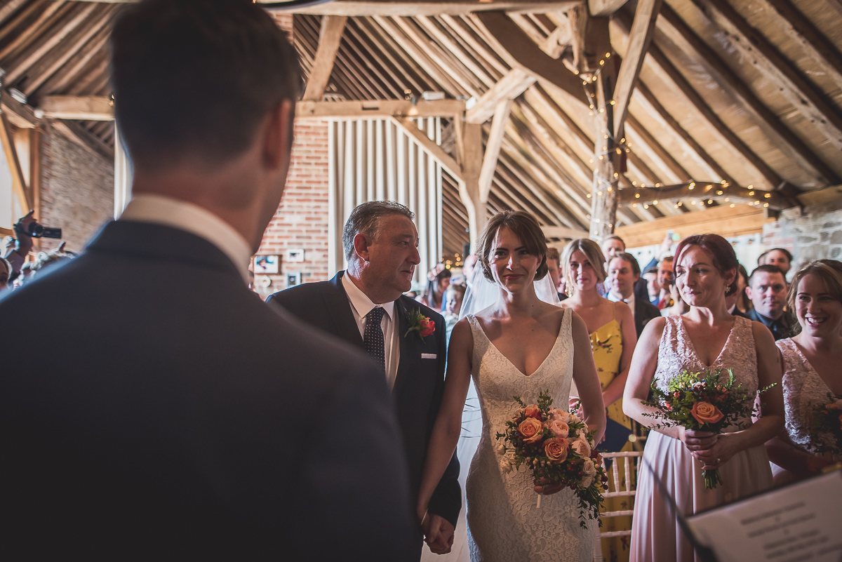 Grittenham Barn Wedding Photography | Hannah & Chris 08 Sipping Champagne 1