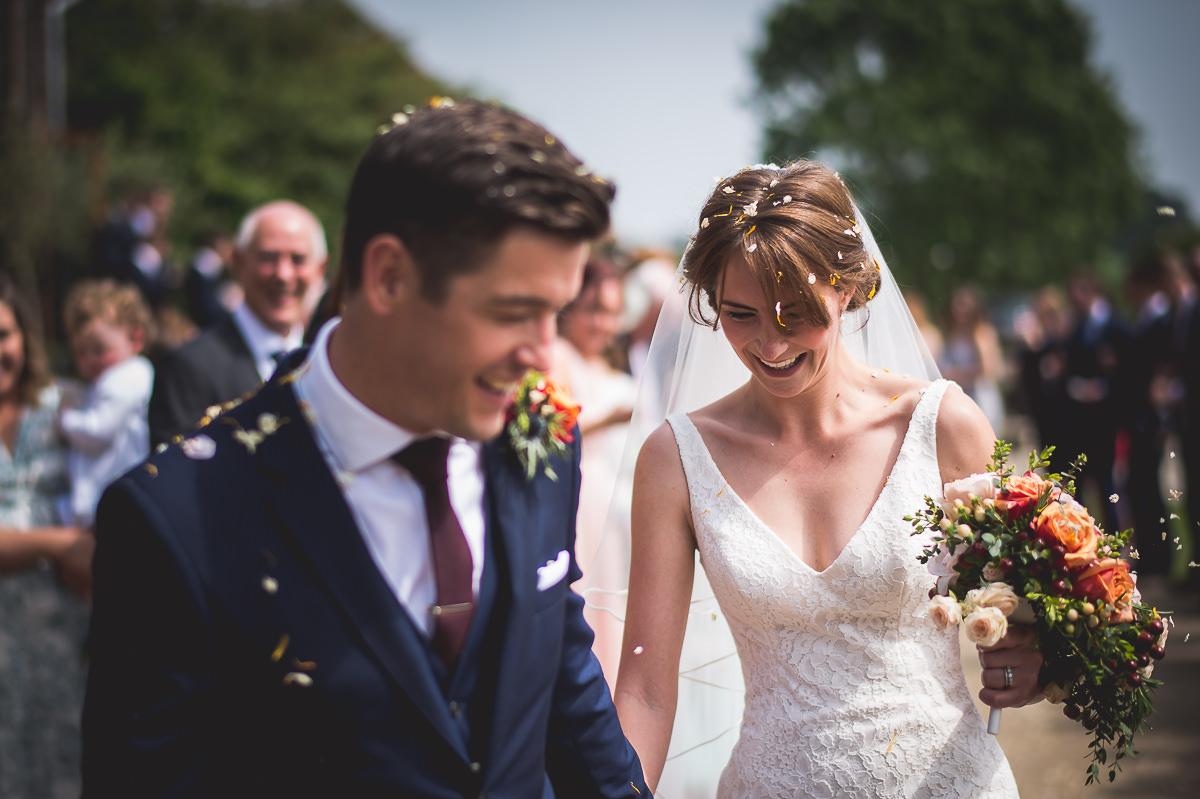 Grittenham Barn Wedding Photography | Hannah & Chris 15 Bridal hair piece black and white 1