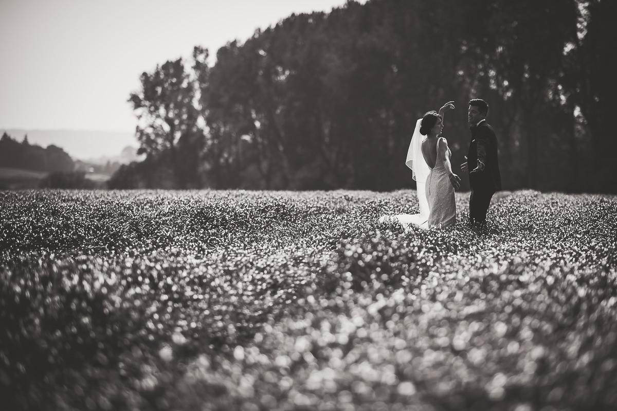 Grittenham Barn Wedding Photography | Hannah & Chris 31 The first kiss 1