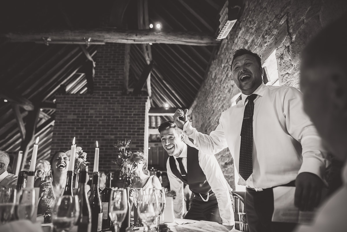Grittenham Barn Wedding Photography | Hannah & Chris 46 couple smooch 1