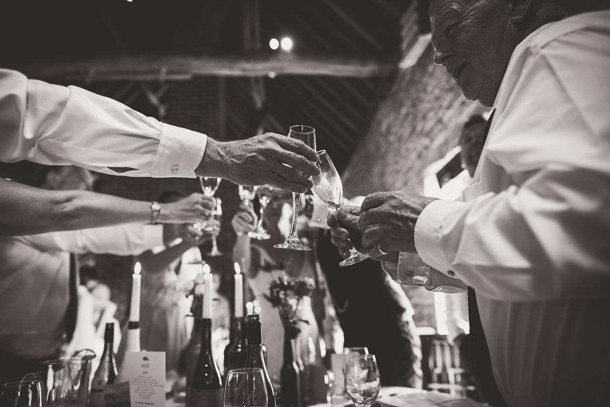 Grittenham Barn Wedding Photography | Hannah & Chris 47 table flowers 1