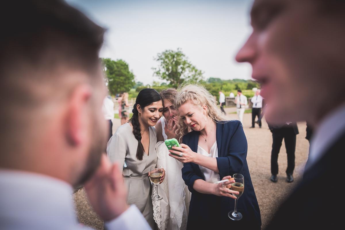 Grittenham Barn Wedding Photography | Hannah & Chris 52 The speech begins 1