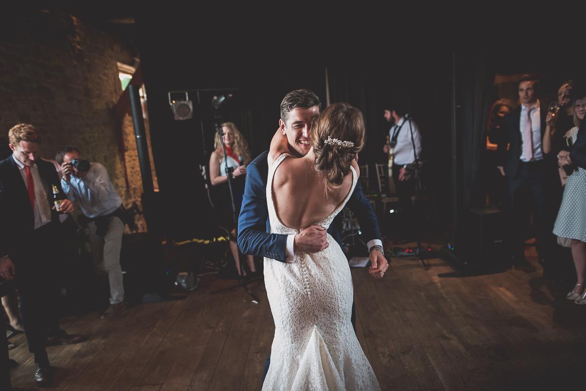 Grittenham Barn Wedding Photography | Hannah & Chris 67 funny group bw 1
