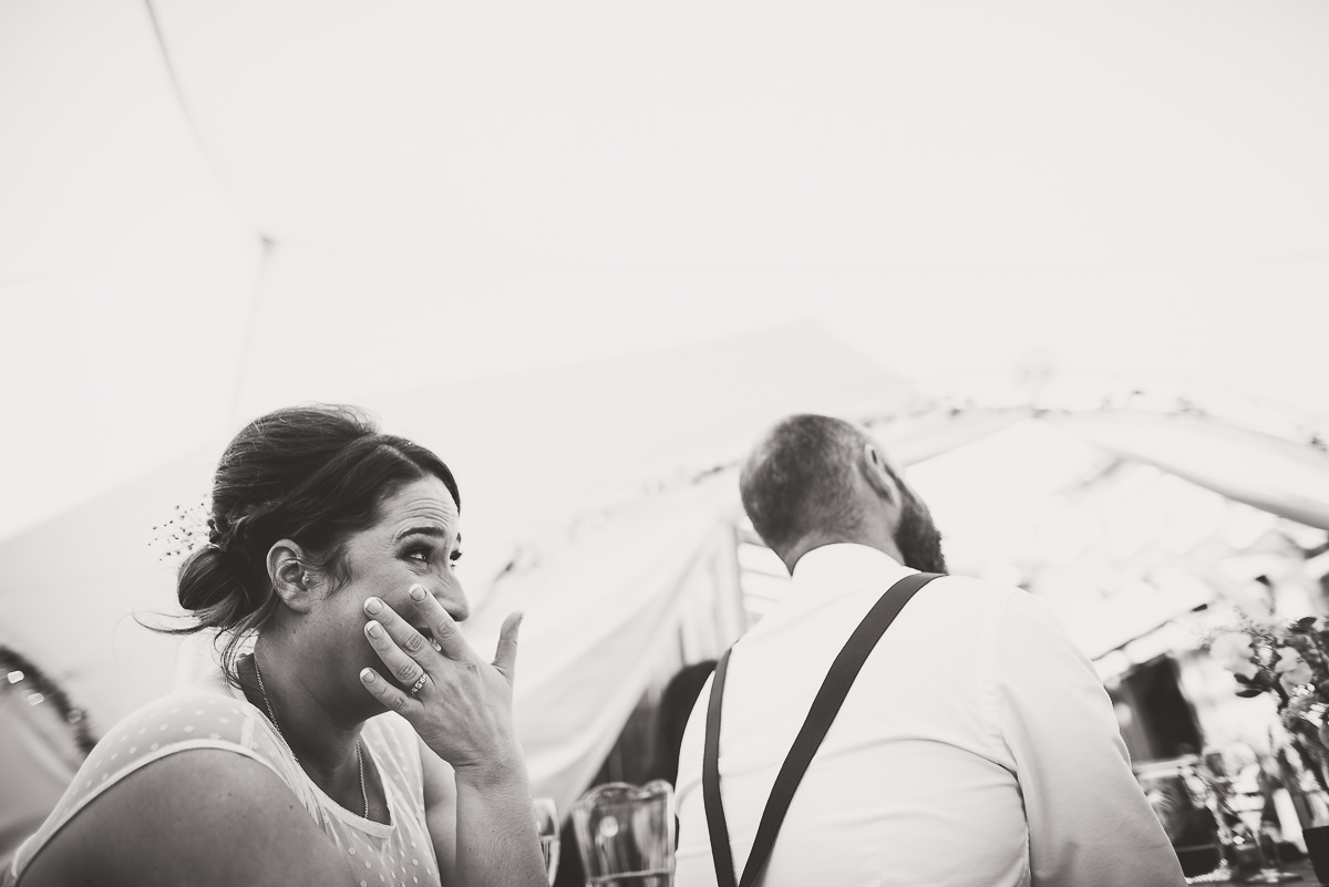 Old Greens Barn Wedding | Holly & Ben 42 bride and groom laughing