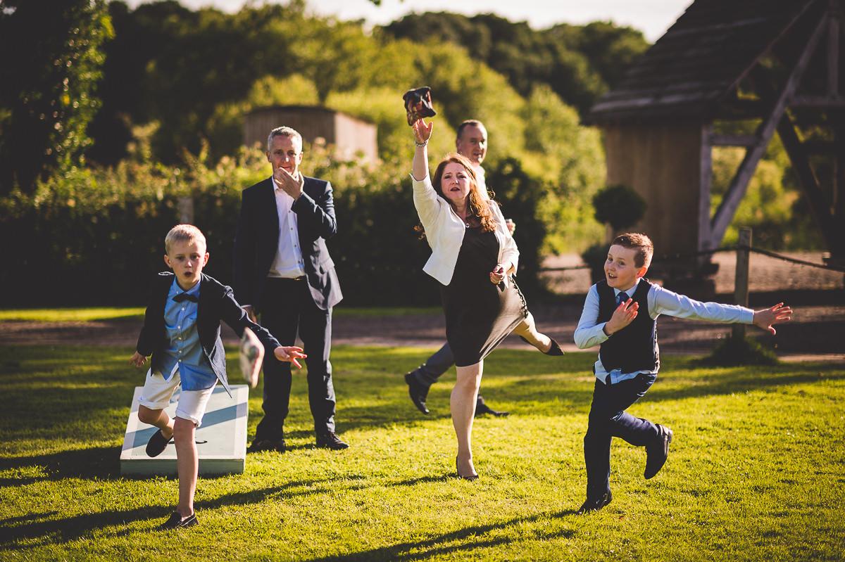 Old Greens Barn Wedding | Holly & Ben 46 couple smooch