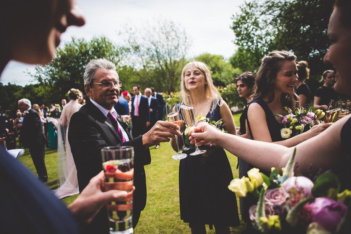 Millbridge Court Wedding Photography | Barbora & Matt 25 The happy couple bw