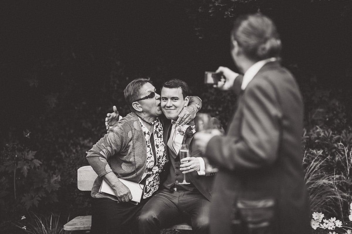 Millbridge Court Wedding Photography | Barbora & Matt 30 Holding hands during the ceremnoy