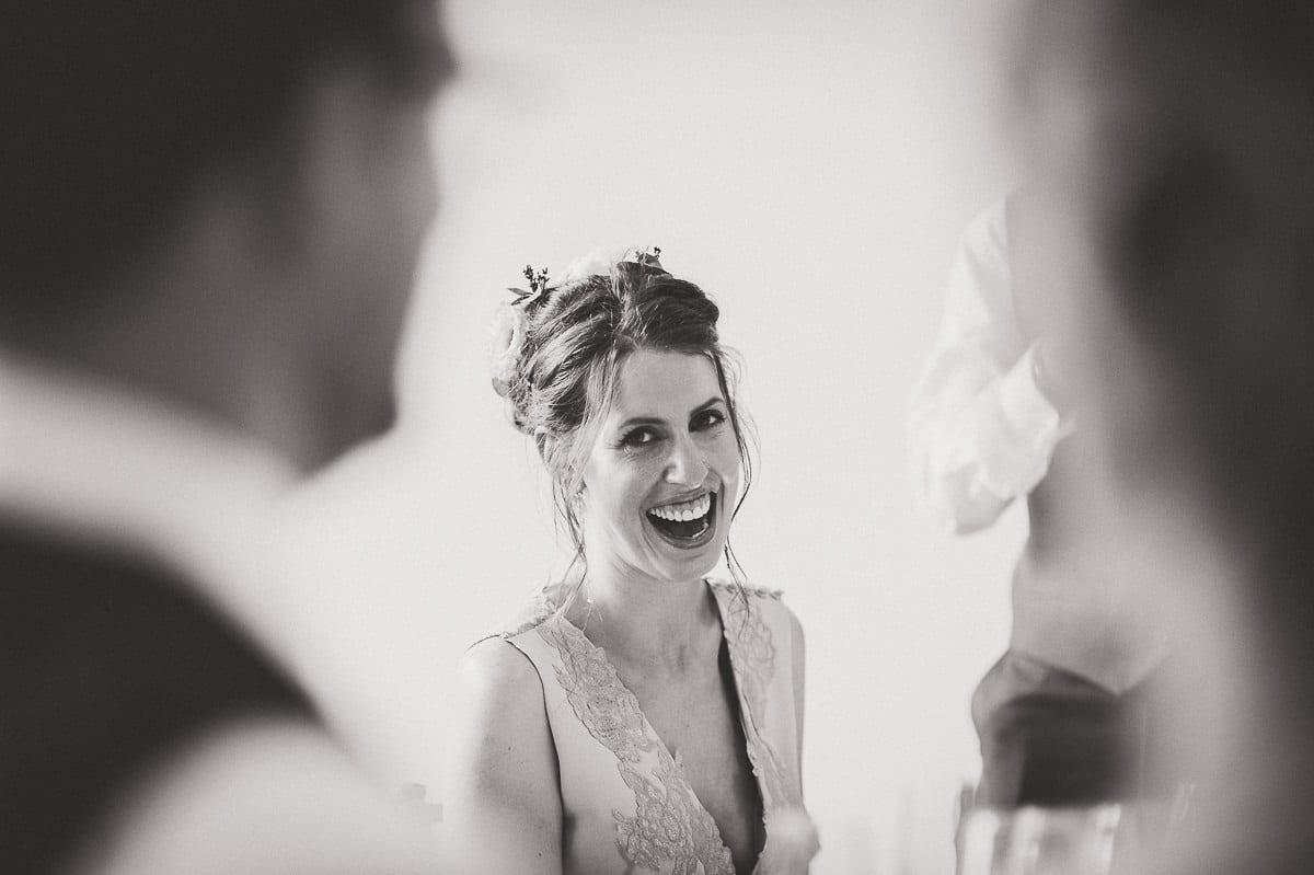 Millbridge Court Wedding Photography | Barbora & Matt 42 bride and groom laughing