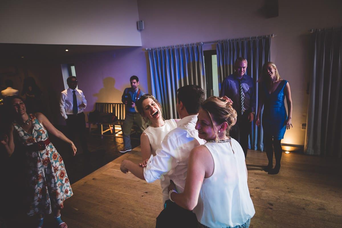 Millbridge Court Wedding Photography | Barbora & Matt 67 funny group bw