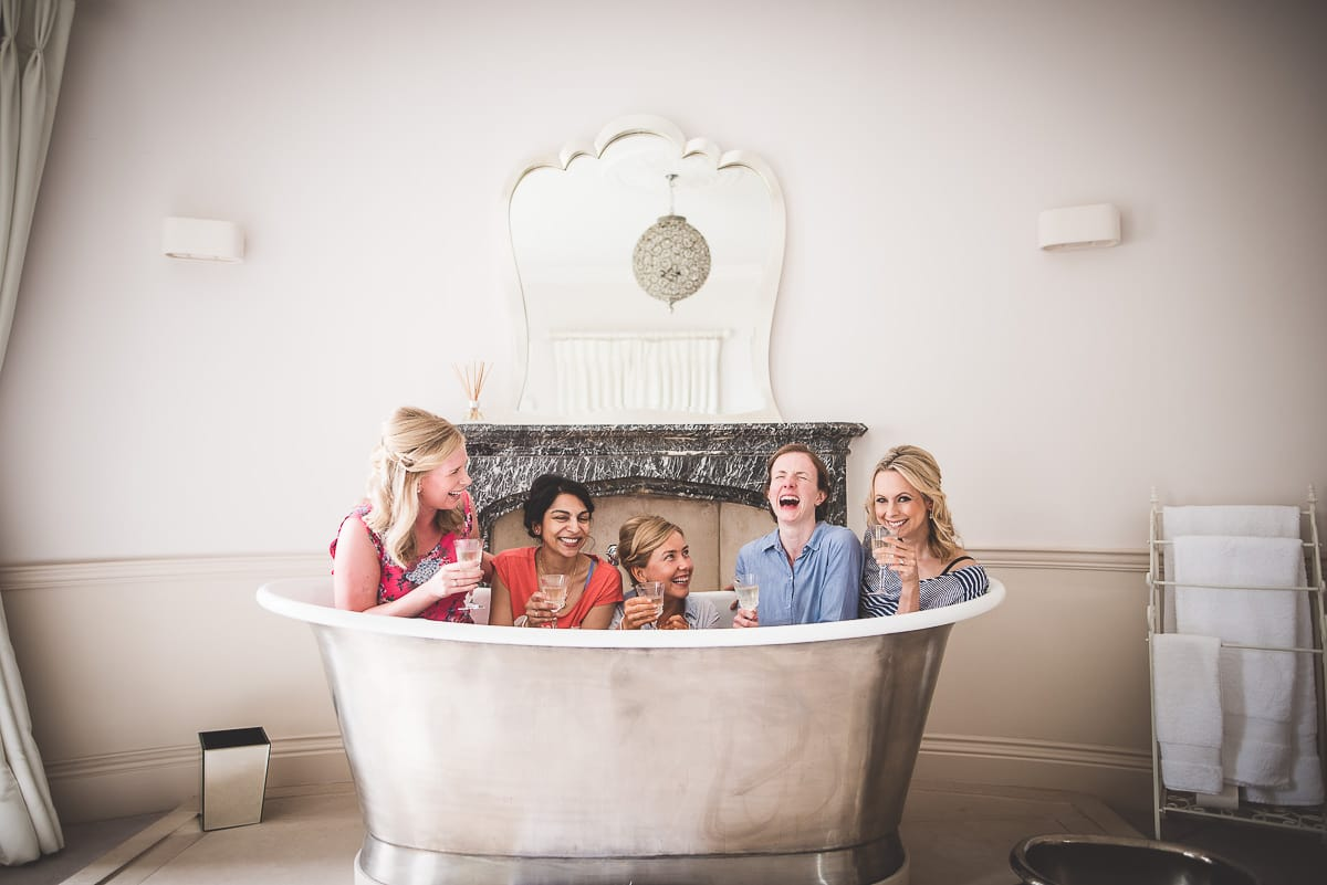 Bridal party in a bath