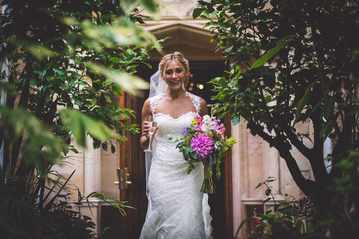 Bride in the conservatory