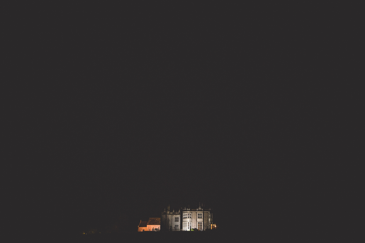 Wiston House at night